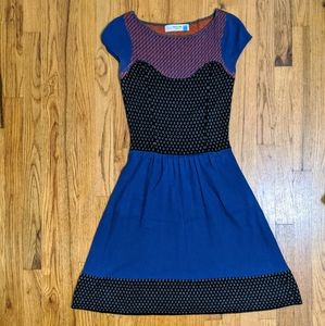 Anthropology wool and viscose dress